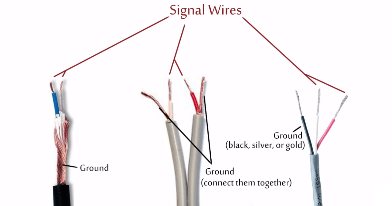 aux cord 3 wire diagram