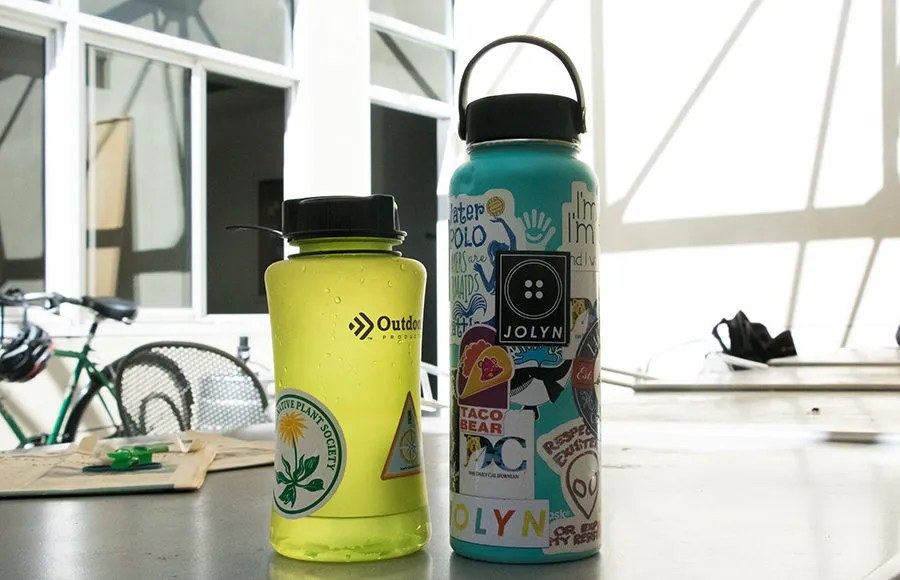 It\u0027s a sticky situation What the stickers on your water bottle say