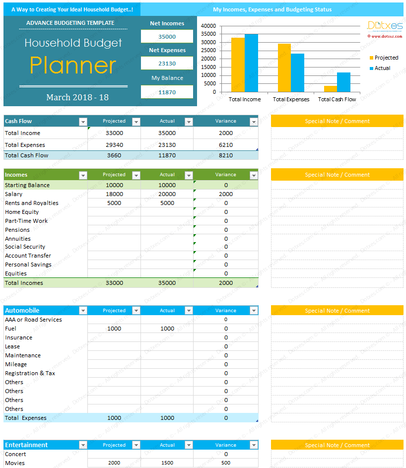 excel for budgeting