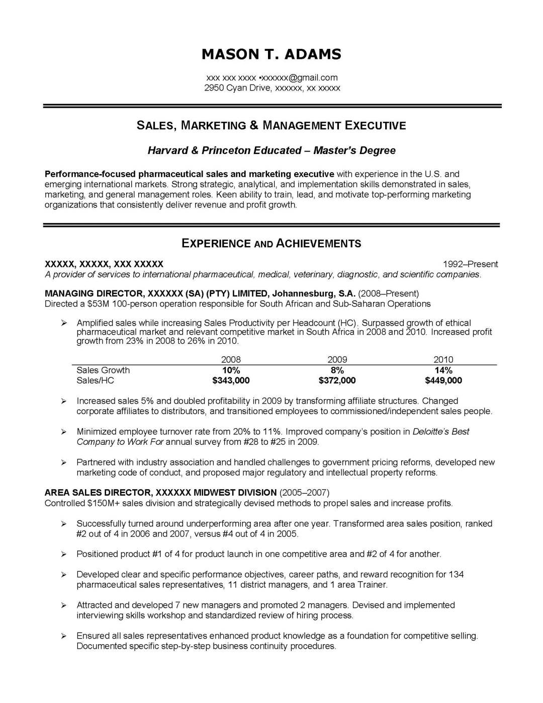 Sales consultant and resume – Business Analysis Report Sample