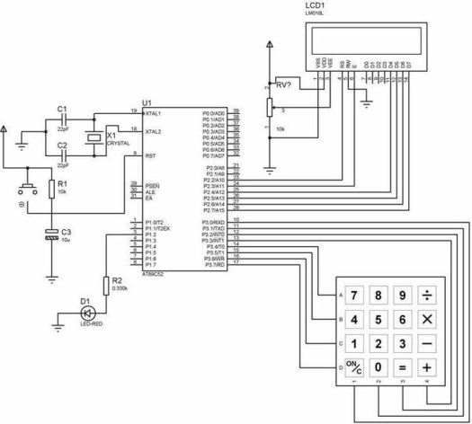 random number generator using 8051 electronic circuits and diagram