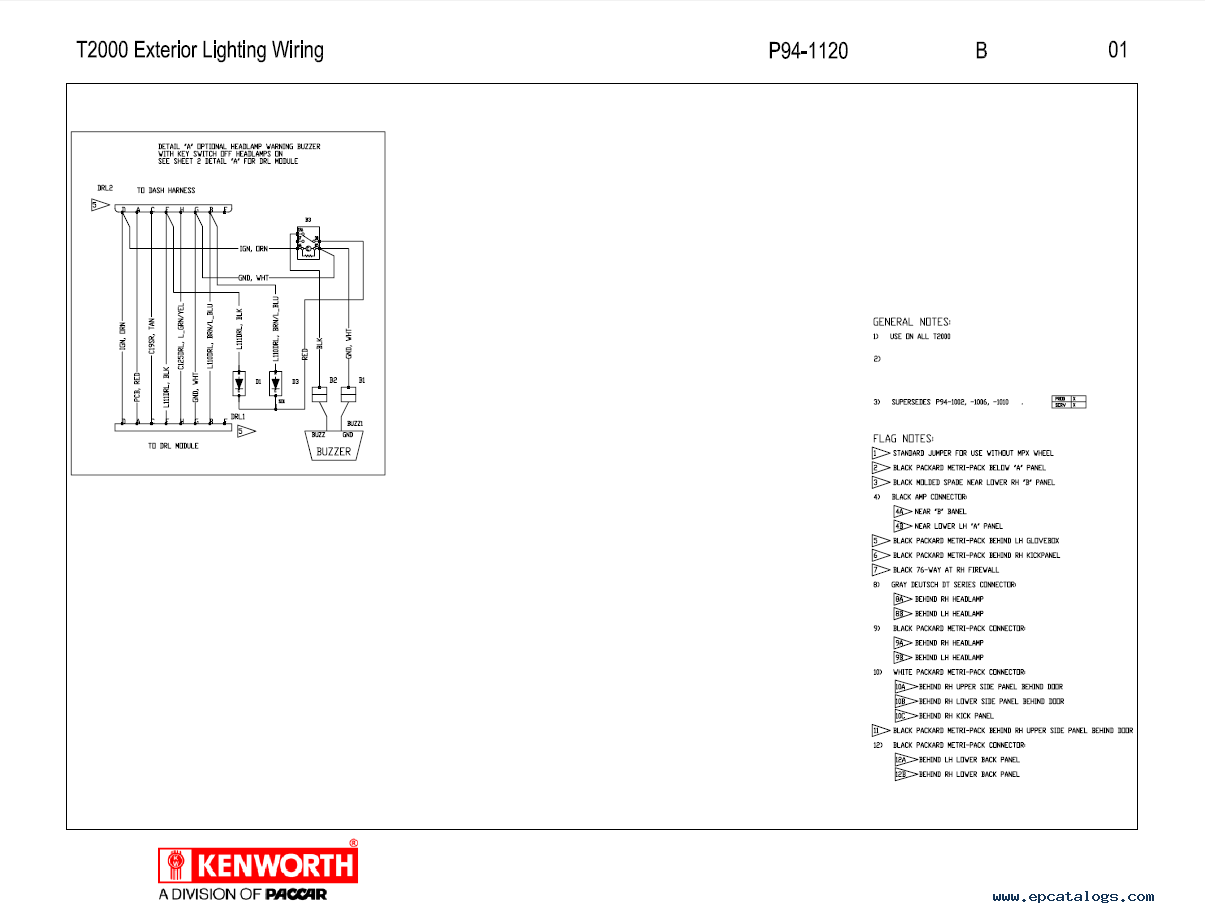 2003 kenworth t600 fuse panel diagram
