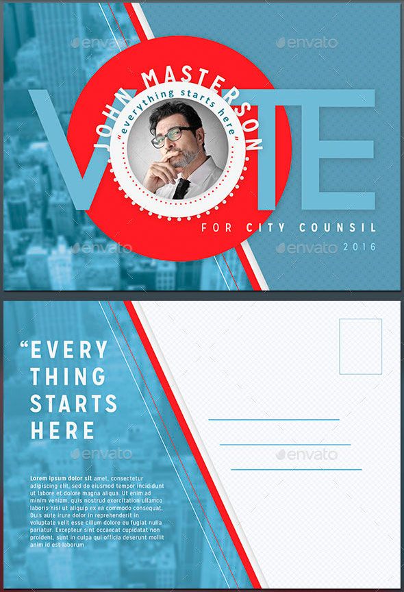 vote flyer template