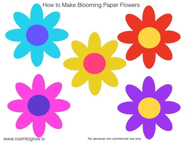 blooming paper flower template