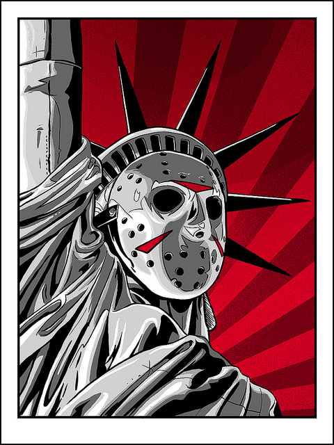 Freddy Krueger Wallpaper 3d Jason Voorhees X The Statue Of Liberty Friday The 13th