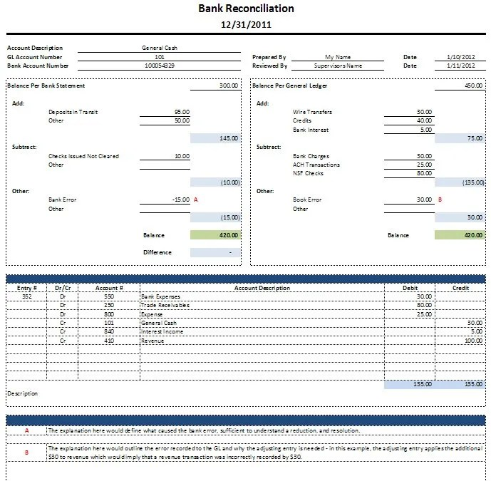 reconciliation sheet template - 28 images - balance sheet