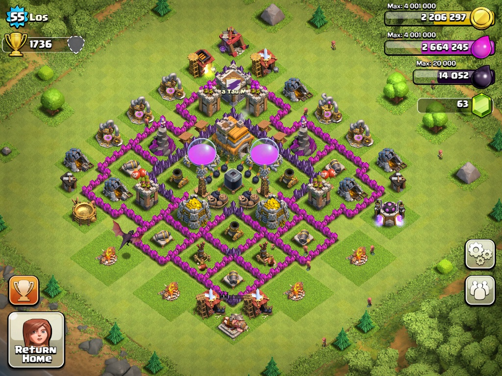 Th7 defense clash of clans builder your guide 24 7