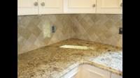 Travertine tile Kitchen Backsplash - YouTube