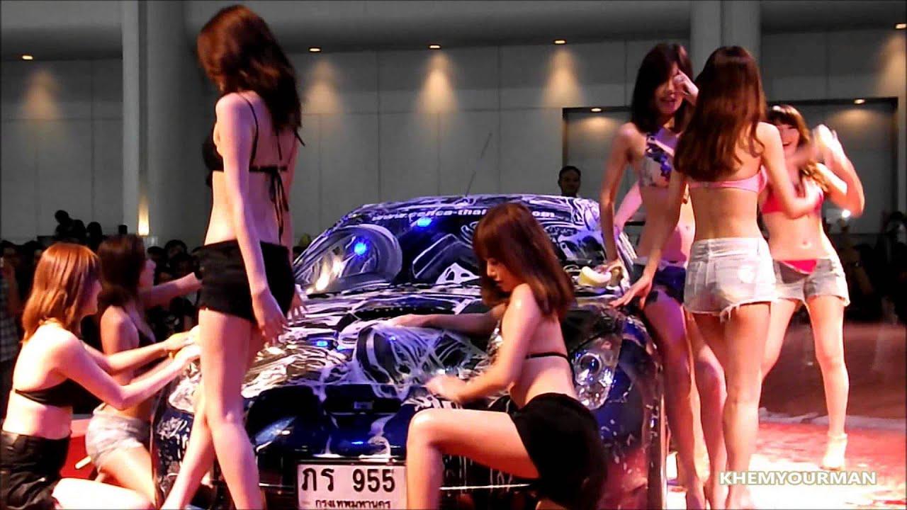 Car And Girl Wallpaper Hd Auto Salon 2013 Sexy Car Wash Japan Model Youtube