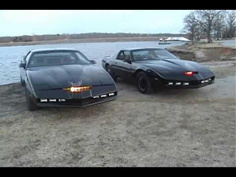 Night Rider Car Wallpapers Knight Rider Cars Ii Kitt Vs Karr Again Wmv Youtube