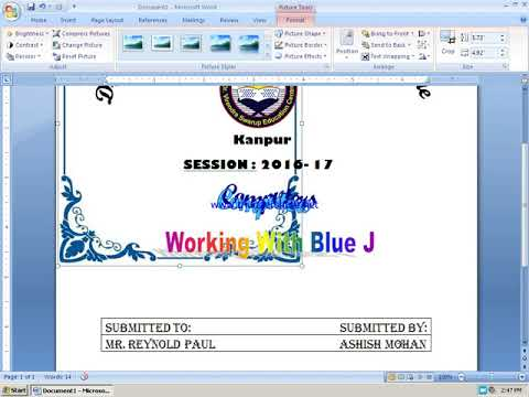 Project Front Page Design In Word cvfreepro