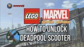 How to Unlock Deadpool's Scooter - LEGO Marvel Super Heroes - YouTube