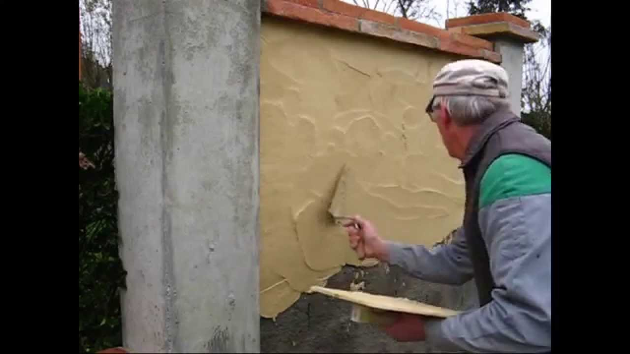 Mur Beton Cellulaire Exterieur Enduit Traditionnel - Youtube