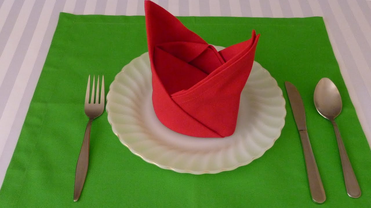 Lilie Falten Napkin Folding - The Crown - Youtube