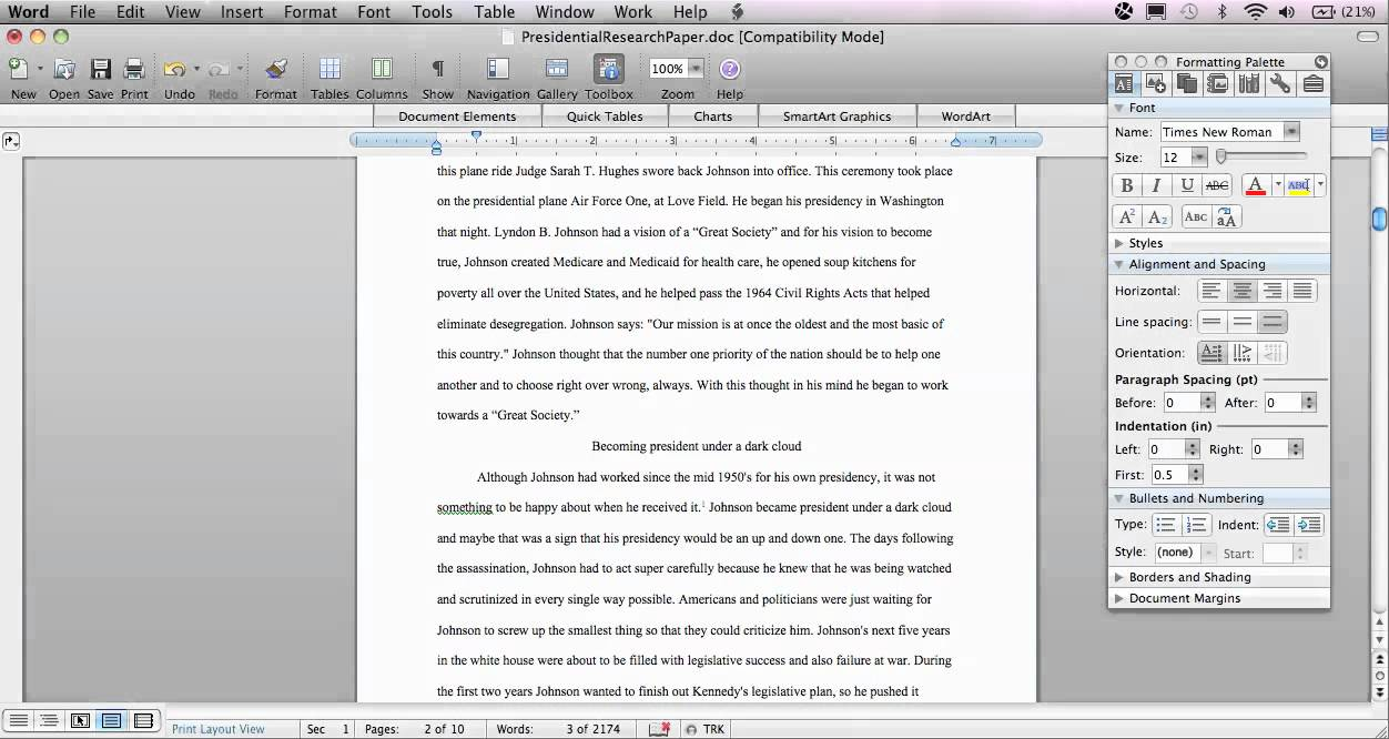 research paper written in chicago style