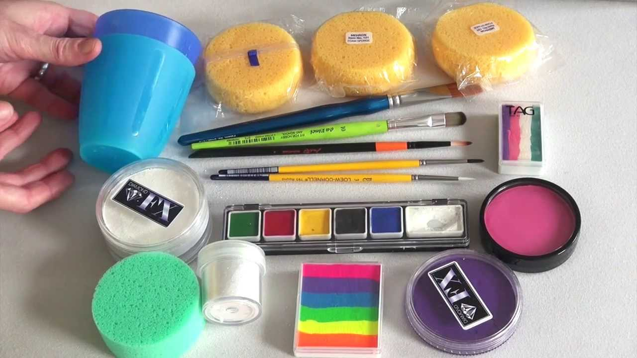 Face Paint Supplies Adelaide Painting Supplies Painting Supplies Beginners