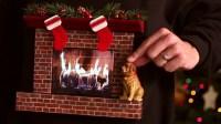 Burning Fireplace Ugly Christmas Sweater (w/ an iPad ...