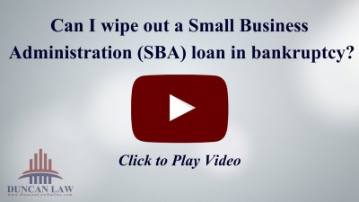 Can I Wipe Out a Small Business Administration (SBA) Loan in Bankruptcy? - YouTube