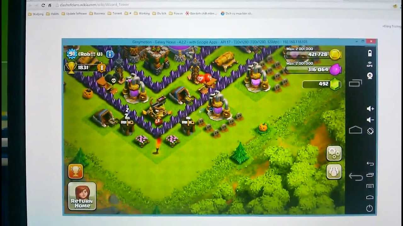 install clash of clans game