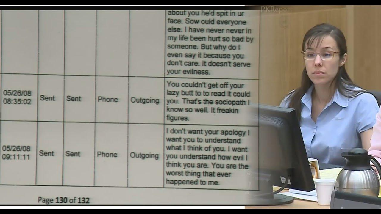 Jodi Arias And Travis Alexander Text Messages