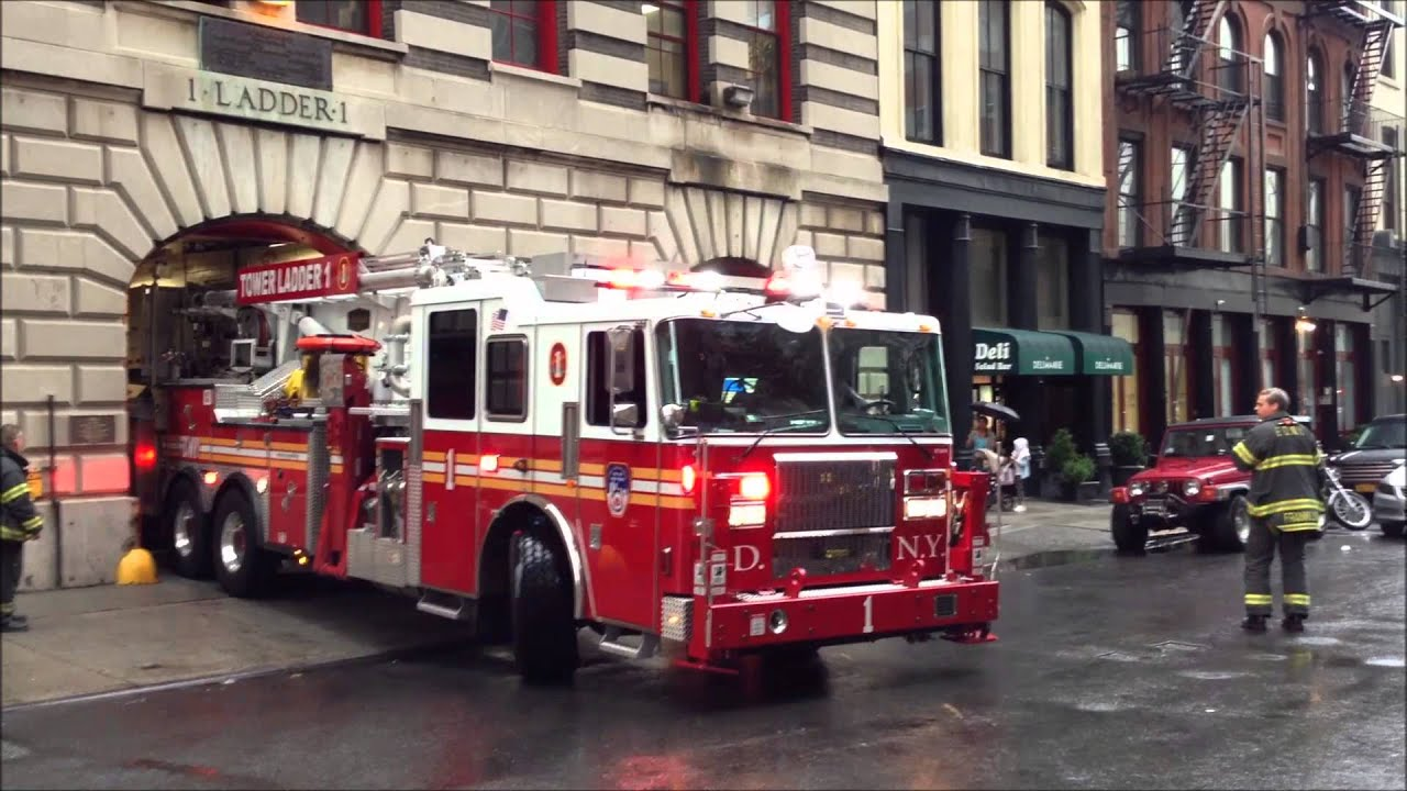 New Fdny Tower Ladder 1 Fdny Engine 7 Return To Quarters