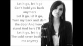 Let It Go Frozen - Demi Lovato - Official Lyrics :) - YouTube