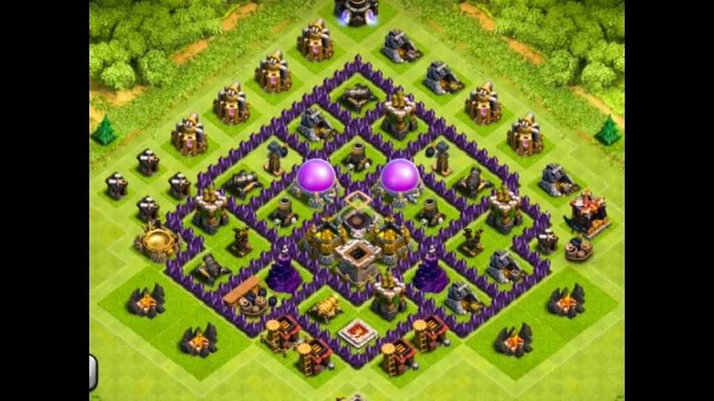 Clash of clans th 9 trophy pushing base gameonlineflash com