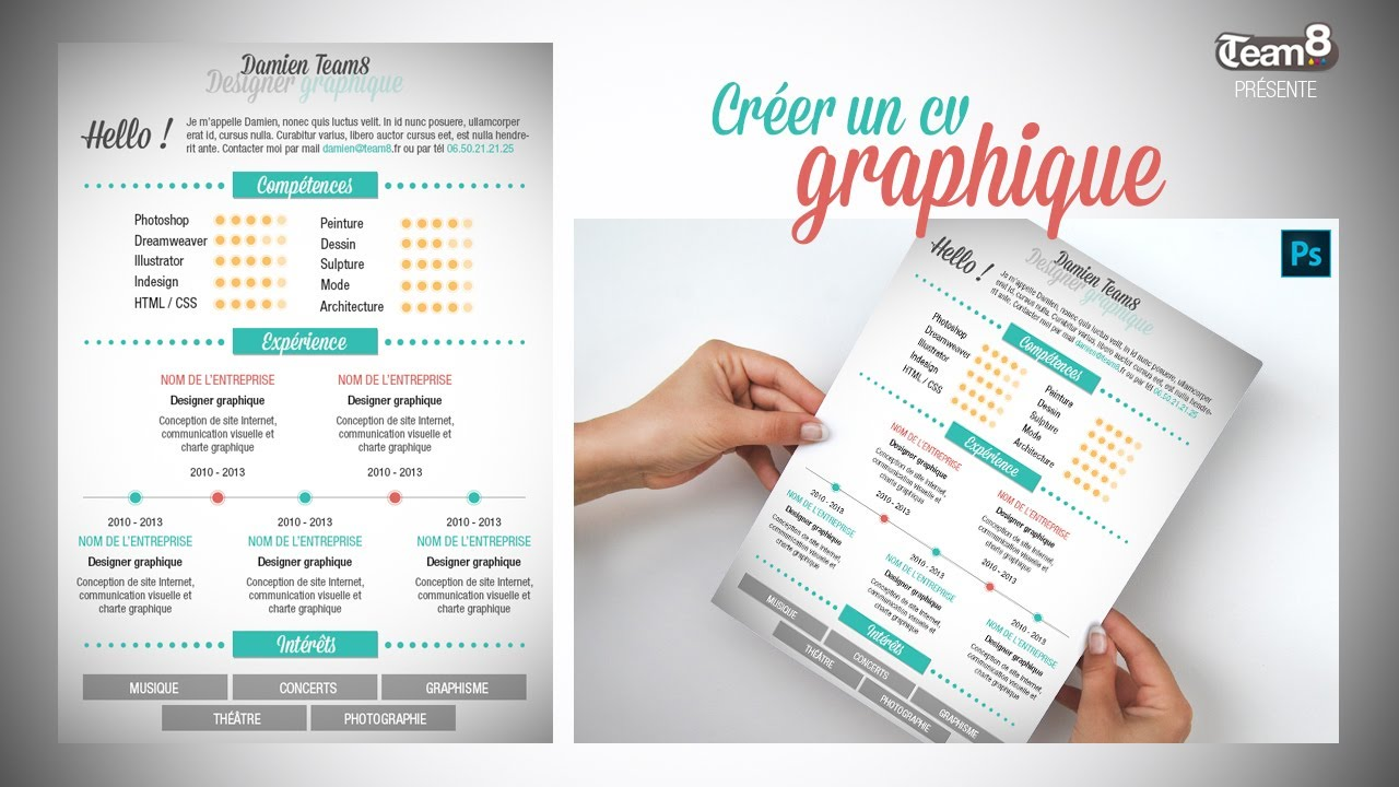 creer un cv indesign