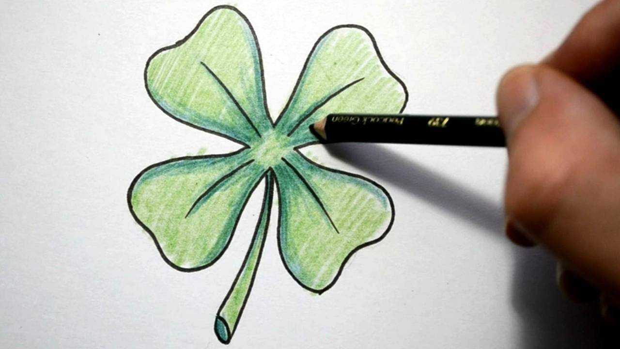 3d Celtic Cross Wallpaper How To Draw A Four Leaf Clover Youtube