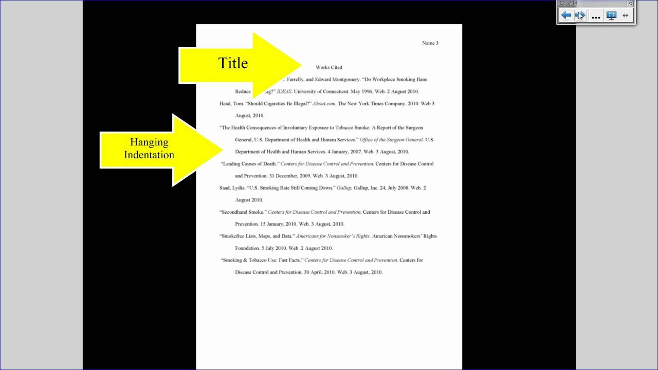 how to format a works cited page mla
