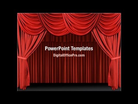 3d Animations Wallpapers Gif Red Curtain Powerpoint Template Backgrounds