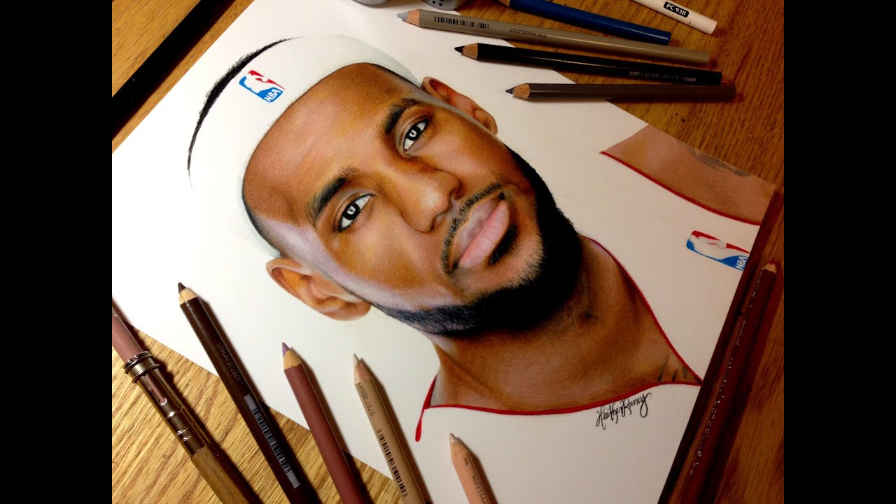 James Harden Wallpaper 3d Drawing Lebron James Youtube