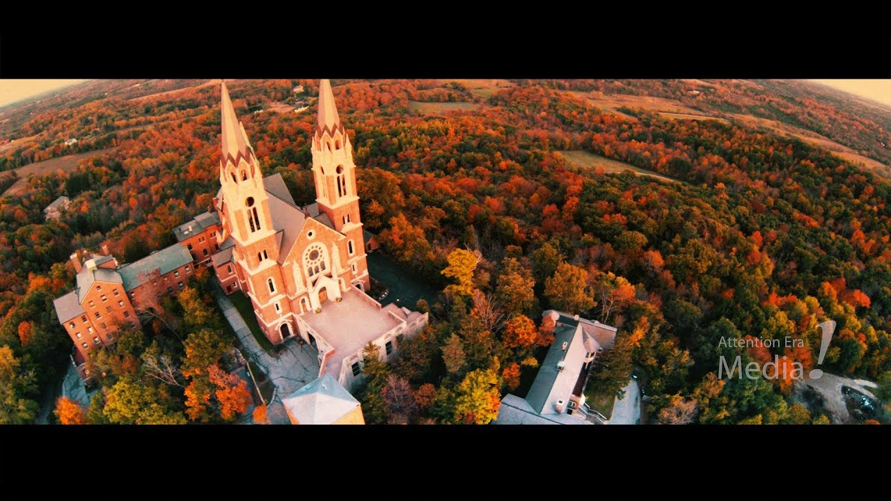 Fall Wallpaper 4k Holy Hill During A Colorful Fall Sunset Presented In 4k