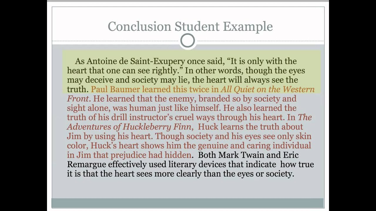 conclusion essay example writing a conclusion for an essay ...