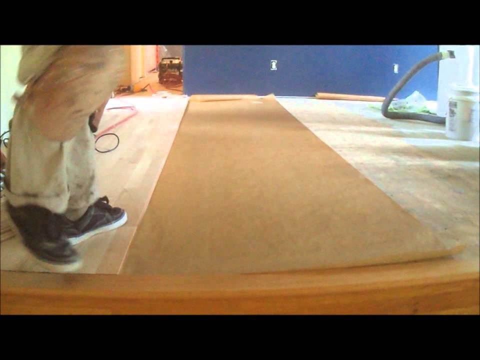 Nail Down Hardwood Floor Underlayment How To Youtube