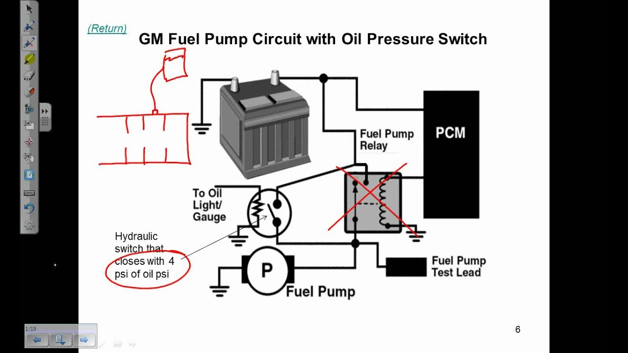 audi fuel pump relay diagram