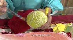 Video Aprenda A Fazer Bola De Natal Para Centro De Mesa!