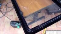 Wohnwagen Fensterscheibe repaprieren, ausbessern, Risse ...