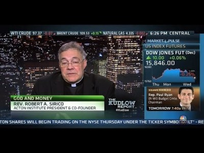 Rev. Robert A. Sirico on The Kudlow Report: Pope Francis and Capitalism