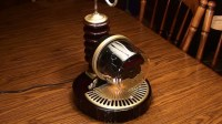Steampunk Electric Meter Lamp - YouTube
