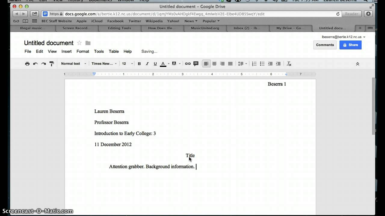 how to put your paper in mla format