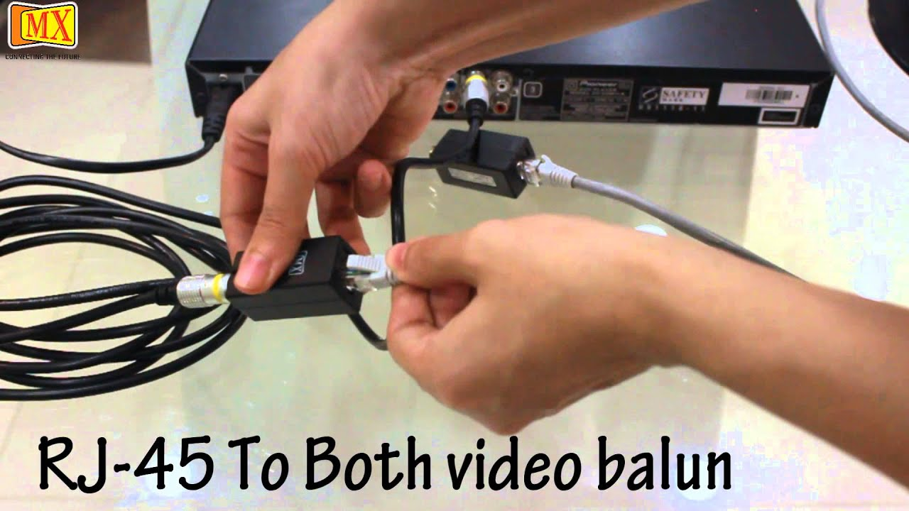 Rj11 To Cat5 Wiring Diagram Rca To Rj 45 Video Balun Youtube