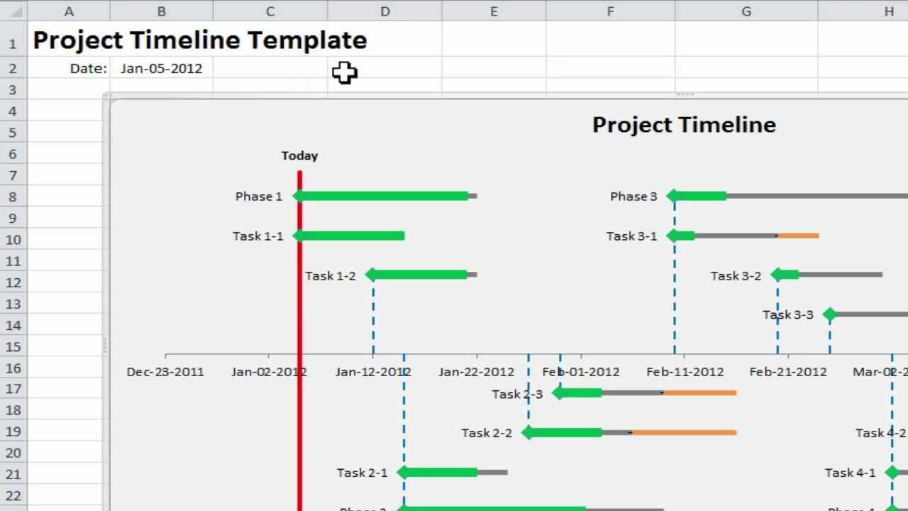 create a project timeline in excel