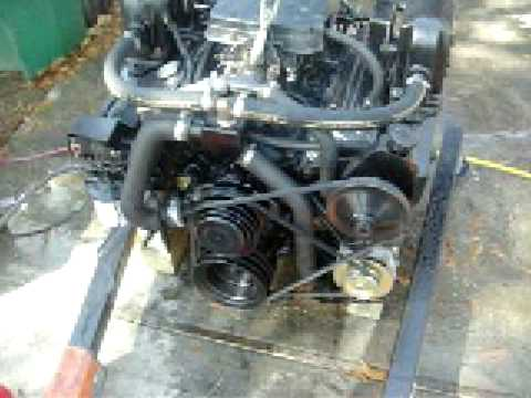 Ford 260 Ignition Wiring 5 7 Small Block Chevy 350 Rebuilt Marine Engine Test Youtube