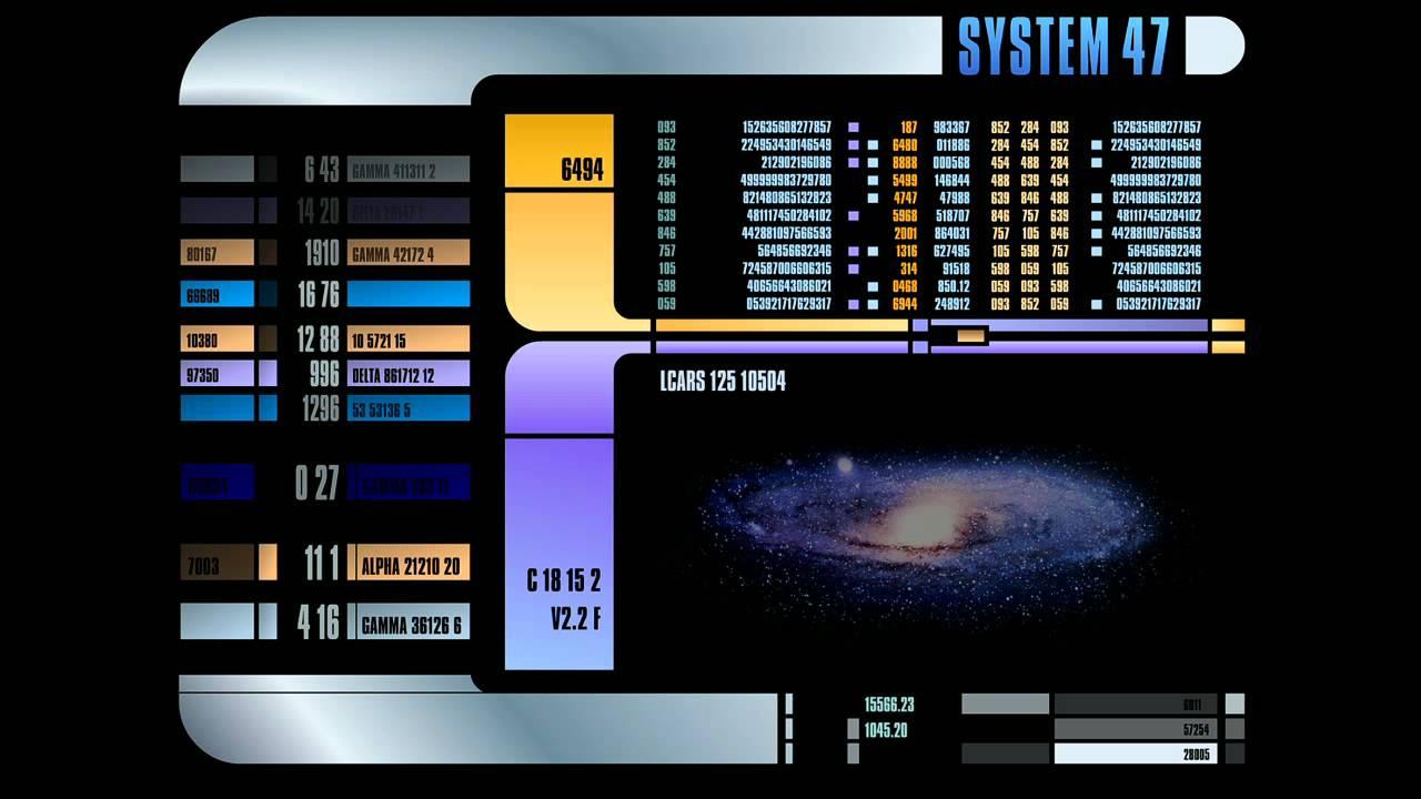 Animated Desktop Wallpaper Windows 7 Star Trek The Next Generation Lcars Display Screensaver