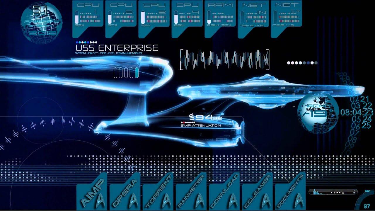 Dreamscene Anime Video Wallpaper Star Trek Rainmeter Wmv Youtube