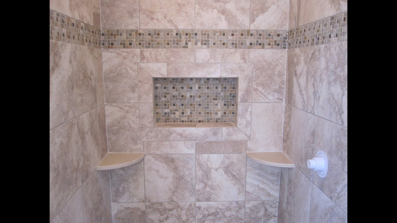 Porcelain Or Ceramic Tile For Shower Ceramic Tile Shower Stall - Youtube