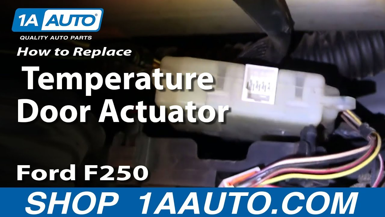 2000 Ford Taurus Aftermarket Radio Wiring Harness How To Install Replace Heater Ac Temperature Door 99 07