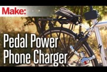 Recharge Your Mobile Device Using Pedal Power with Weekend Projects