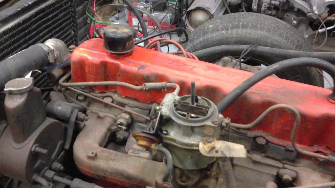 1972 Chevy Truck Starter Wiring Chevy 250 6 Cyliner Running Great Youtube